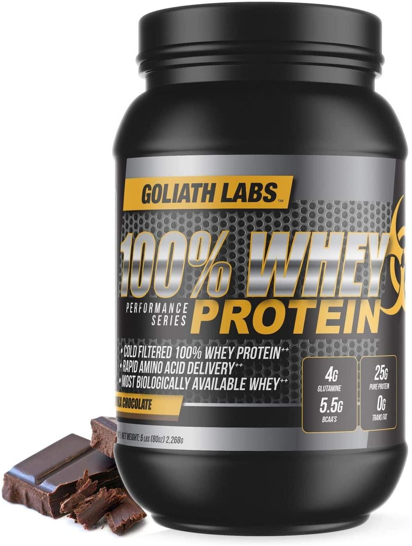 GL 100% Whey Protein Powder 20 lb by Goliath Labs (Chocolate)