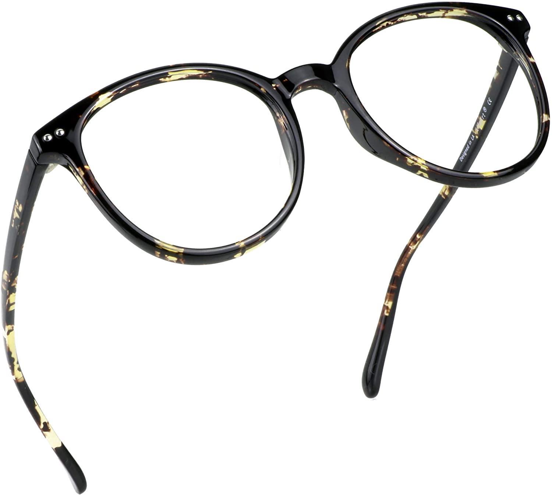 LifeArt Blue Light Blocking Glasses, Anti Eyestrain, Computer Reading Glasses, Gaming Glasses, TV Glasses for Women Men, Anti UV, Anti Glare (Floral, 0.75 Magnification)