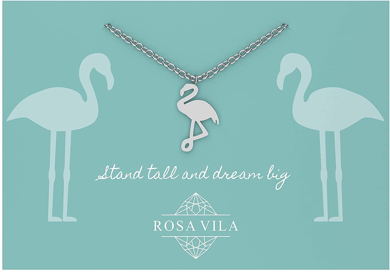 Rosa Vila Flamingo Necklace, Flamingo Gifts for Women and Girls, Flamingo Pendant, Bird Necklaces, Flamingo Jewelry for Women, Flamingo Gift, Flamingo Accessories, Bird Jewelry, Bird Pendant