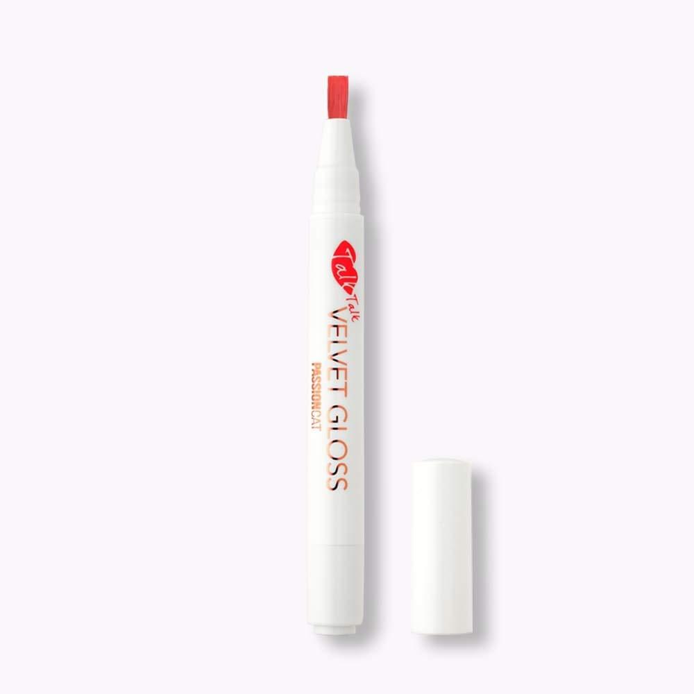 PASSIONCAT Plumping Velvet Lip Gloss No.2 Rose Talk (Talk-Talk) - Long Lasting Lip Stain for Lips and Cheek Tint Various Korea Velvet Plumping Lip Marker Lip Matte tints