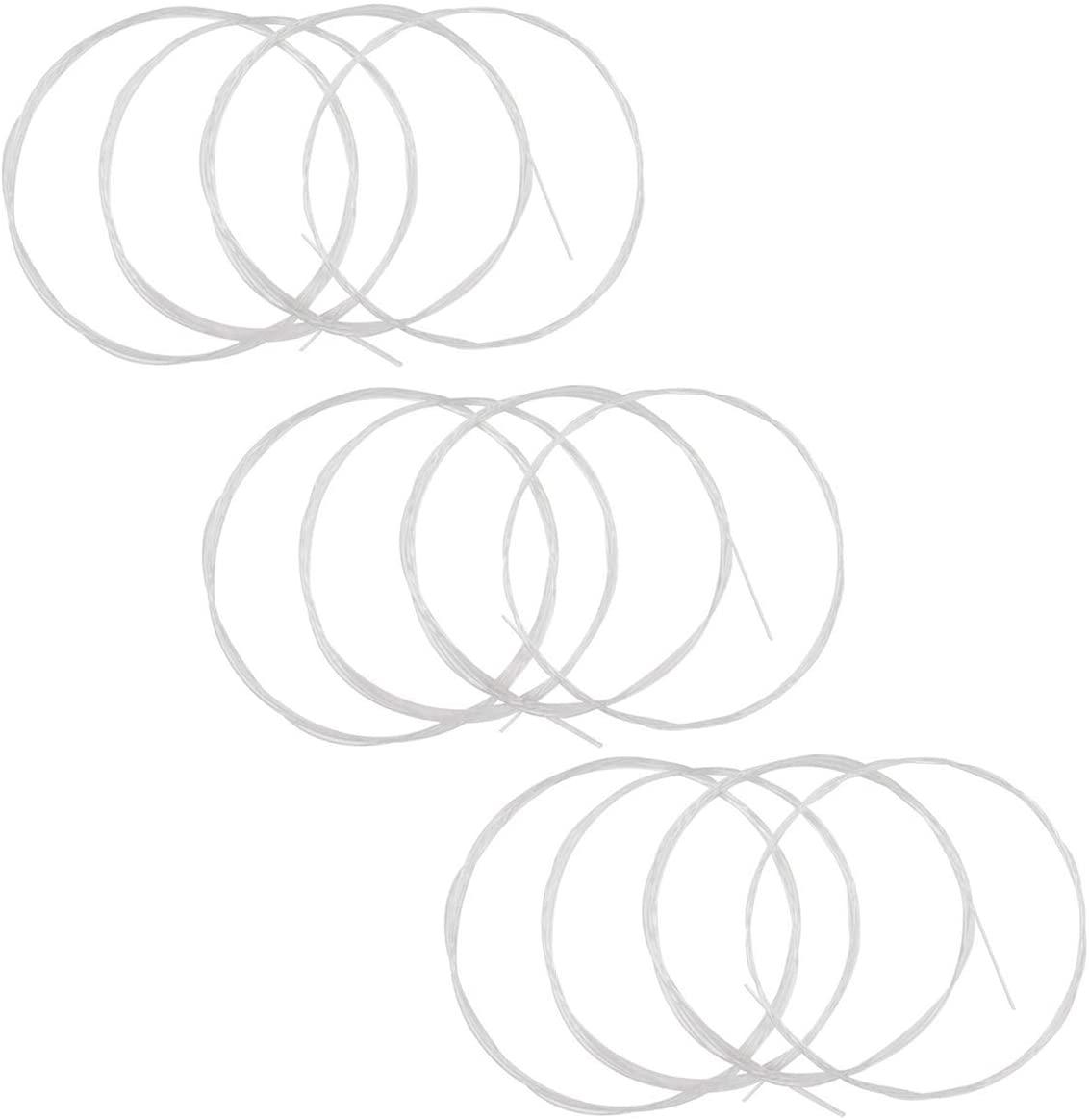 Clear Nylon Ukulele Strings Ukulele Nylon Strings Nylon Ukelele Strings 3 full sets