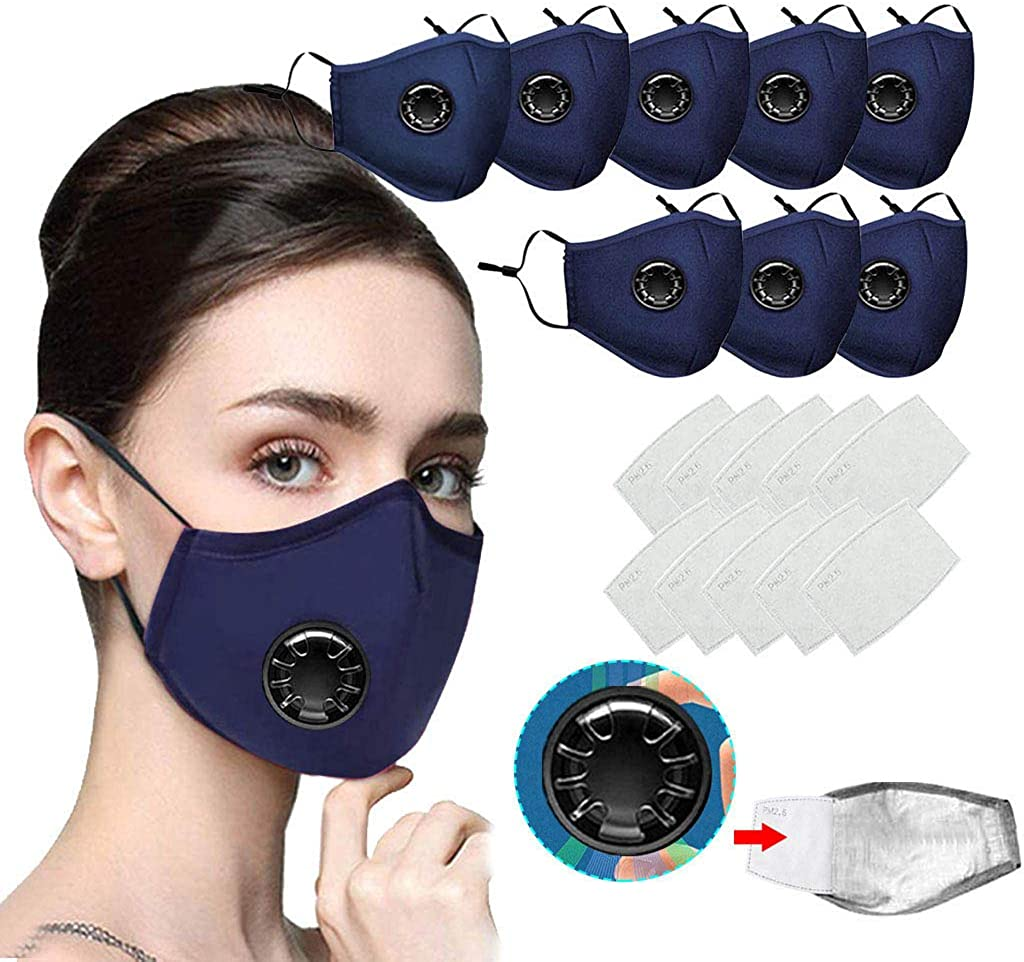 Facial Protective Accessory, Relting Reusable and Washable Black Earloop Half Face Cotton Breathable Outdoor Sports Accessory for Men Women with Headband Bandana - Outdoors Headwear, Scarf Bandanna