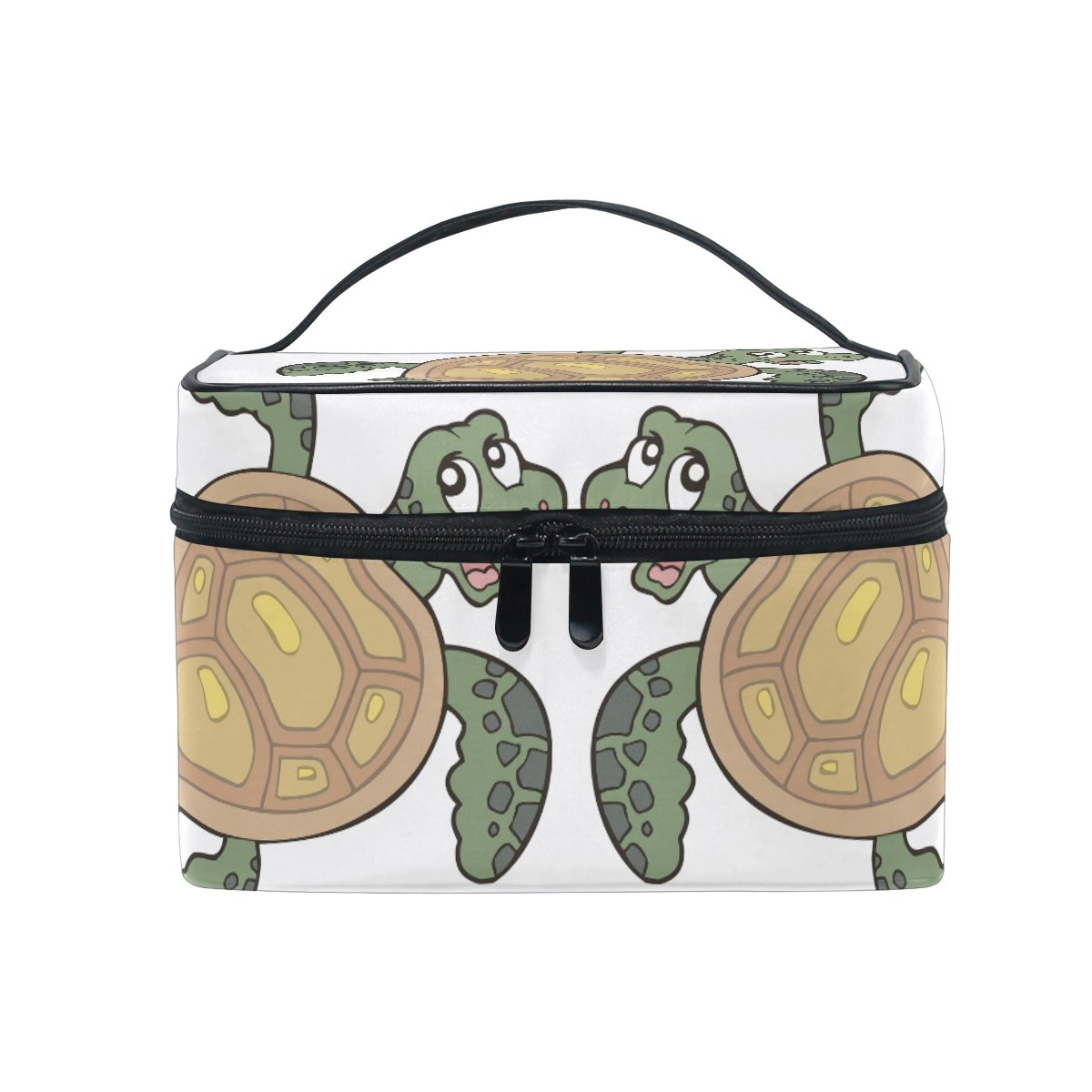 Makeup Bag Cartoon Turtles Travel Cosmetic Bags Organizer Train Case Toiletry Make Up Pouch