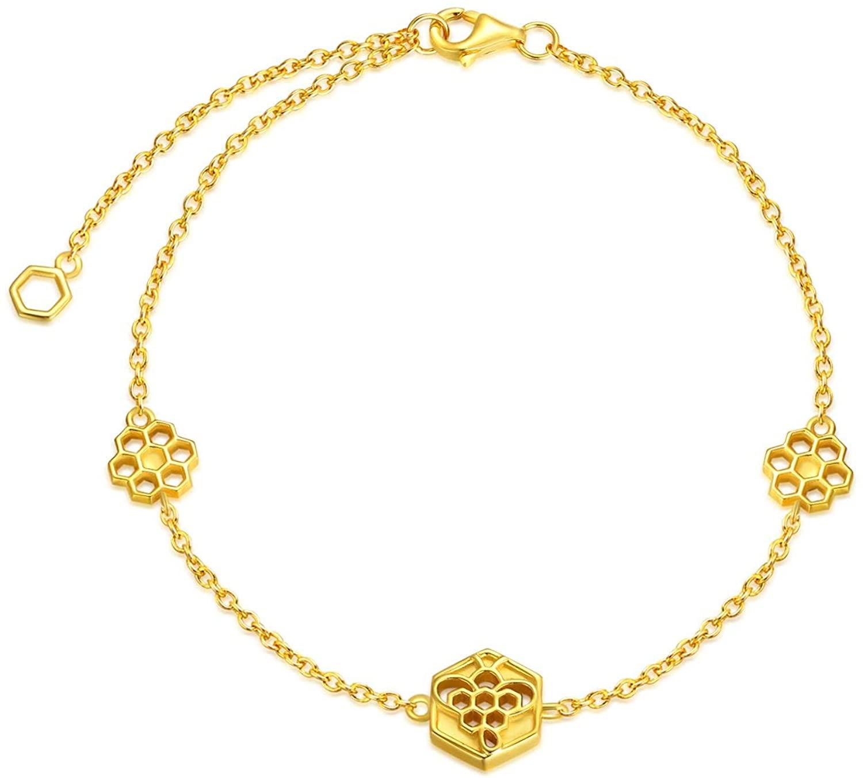 POPKIMI Sterling Silver Bracelets for Women Birthday Gifts for Girlfriend Mom Wife Her Teen Girls