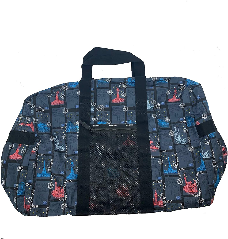 LeSportsac Large Global Weekender (World Travel Blue T)