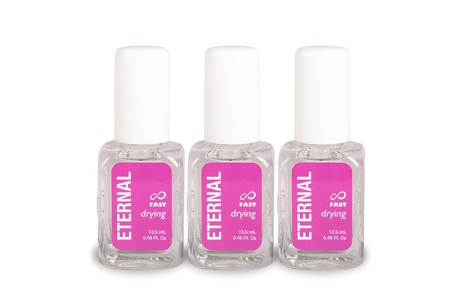 Eternal Fast Drying Top Coat Nail Polish - 3 Pack