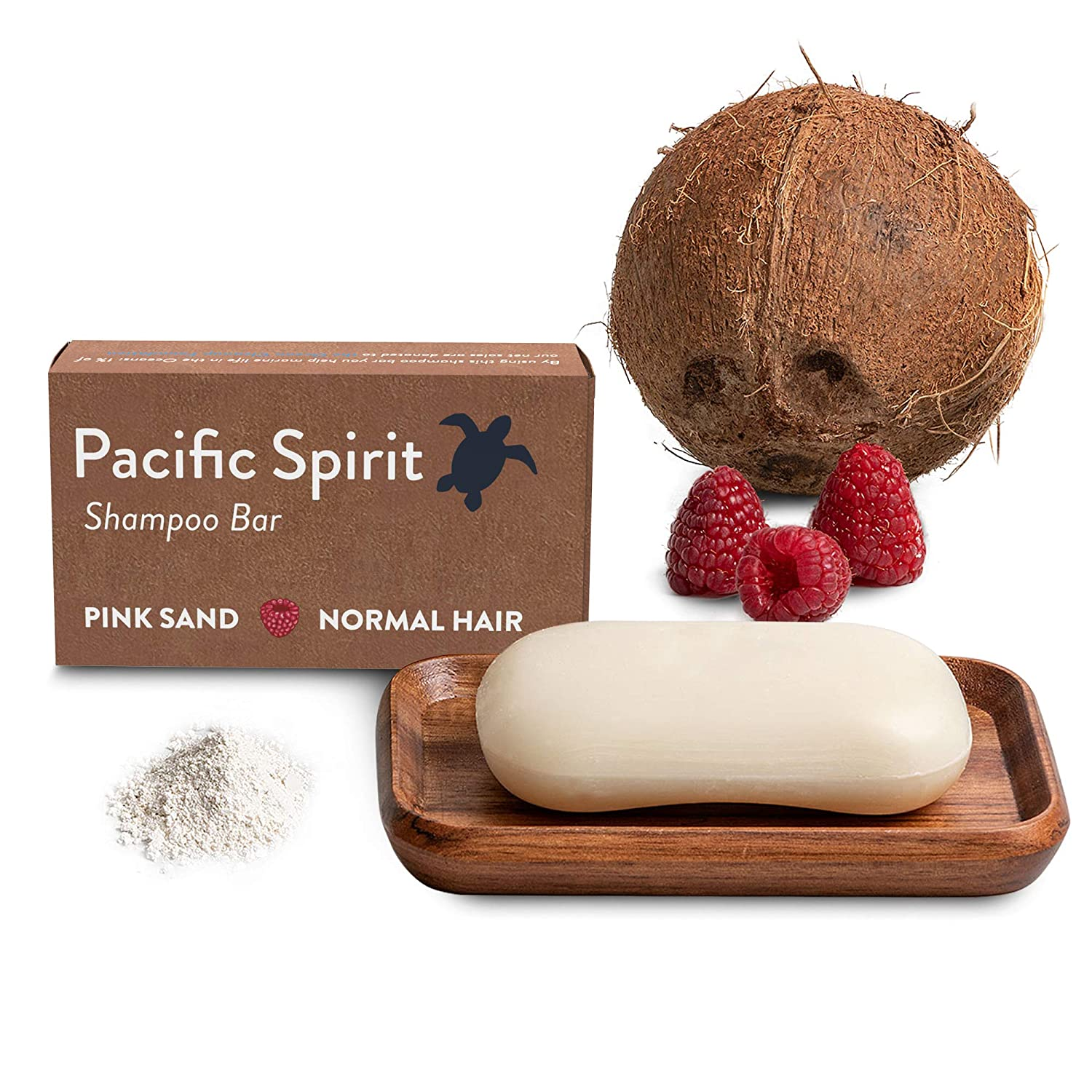 Shampoo Bar with Coconut Oil & Raspberry for Normal to Oily hair. Thick foam for a perfect cleaning. Great natural scent. Sulfate-Free, Soap-Free, Vegan, Zero Waste. 3.53 oz by Pacific Spirit