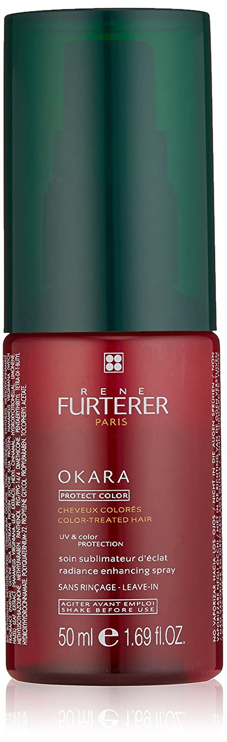 Rene Furterer OKARA Radiance Enhancing Spray, Safe for Color-Treated Hair, Bi-Phase, Sulfate Free