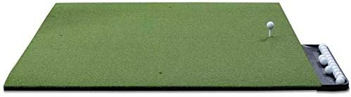 Commercial Golf Mat Premium Turf - Indoor/Outdoor Mat for Hitting & Chipping - Golf Stance Mat for Pros & Beginners w/Golf Accessories (Golf Tray + 3 Rubber Golf Tees)