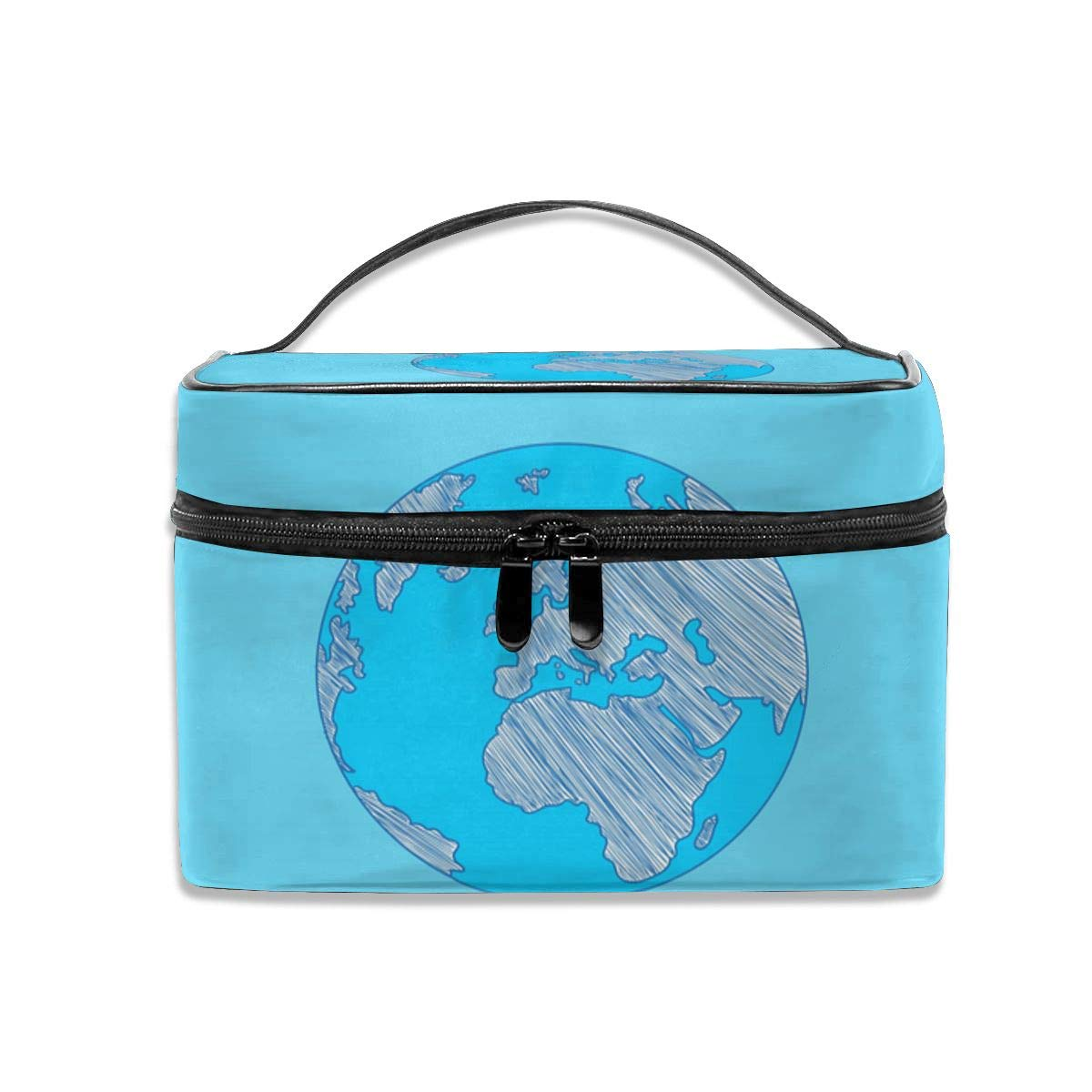 Travel Cosmetic Bag Blue EarthToietry Makeup Bag Pouch Tote Case Organizer Storage For Women Girls