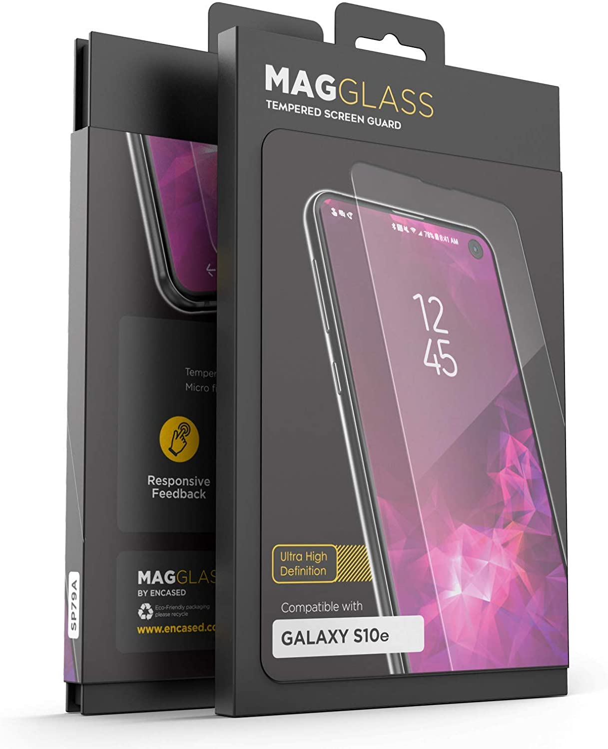 Magglass Samsung Galaxy S10e Tempered Glass Screen Protector - Anti Bubble UHD Ultra Clear Scratch Resistant Display Guard (Case Compatible) for Samsung Galaxy S10 E