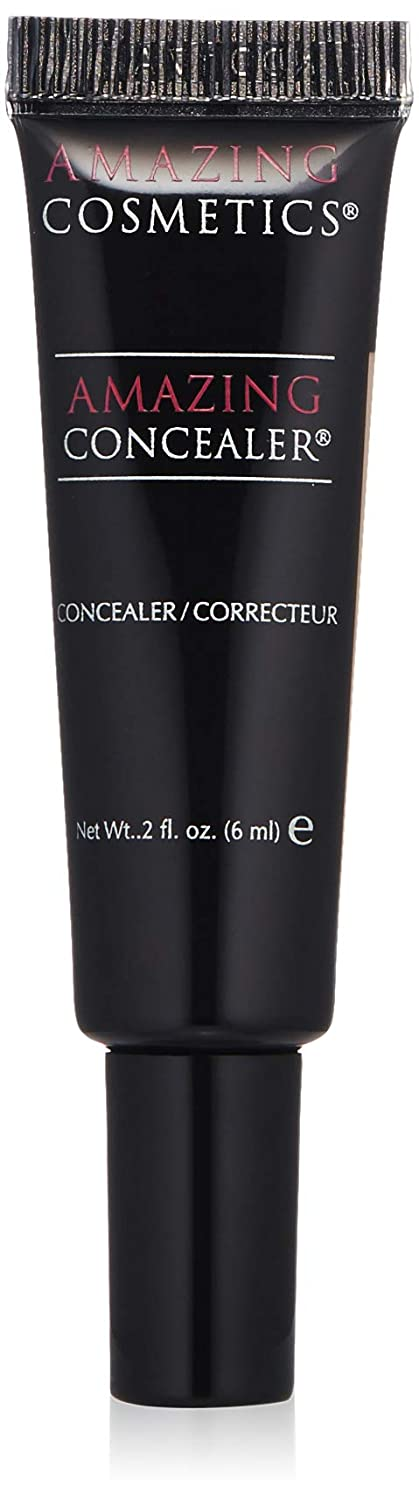 Amazing Cosmetics Amazing Concealer, full coverage long wear concealer makeup for undereye dark circles, acne, blemishes and spots, color correcting shades, melts into skin for most natural finish