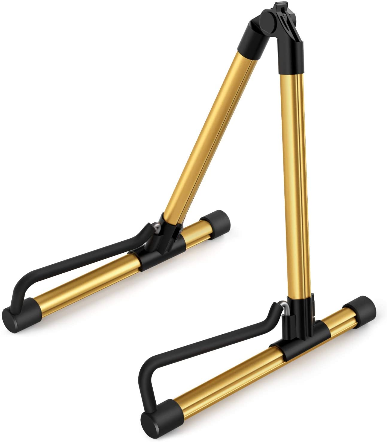 Donner DS-1 Gold Portable Ultimate Guitar Stand for Acoustic Electric Classical Bass Guitar,Single Guitar Stand
