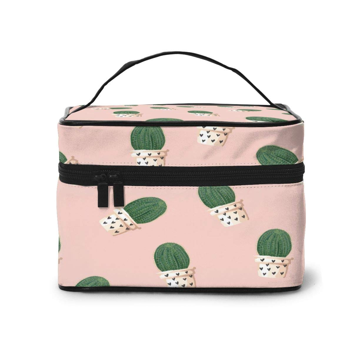 Travel Cosmetic Bag Pink CactusToietry Makeup Bag Pouch Tote Case Organizer Storage For Women Girls