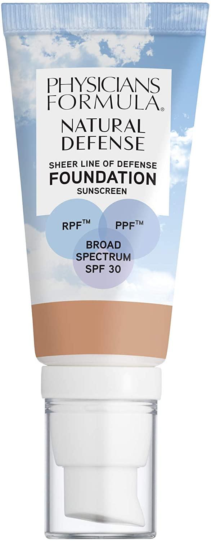 Physicians Formula Natural Defense Sheer Line of Defense Foundation SPF 30, Light, 1 Ounce