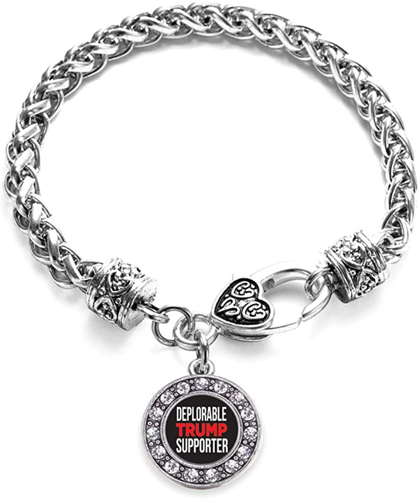 Inspired Silver - Silver Circle Charm Bracelet with Cubic Zirconia Jewelry