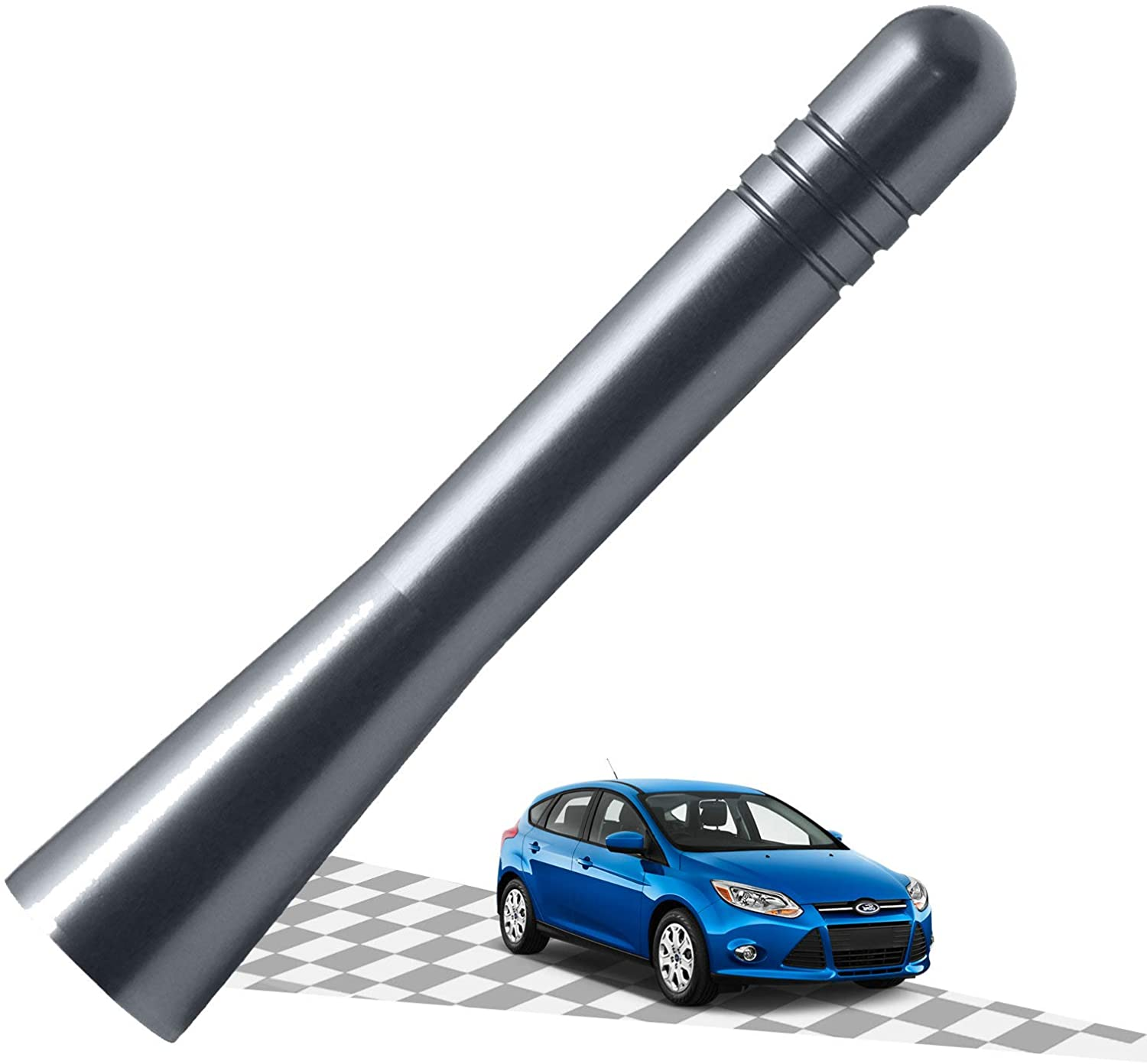 Elitezip Antenna Compatible with Ford Focus 2008-2018 | Optimized AM/FM Reception with Tough Material | 3.2 Inches - Carbon Black