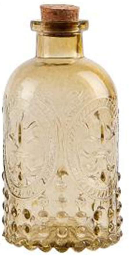 Hankyky Clear Vintage Glass Bottle Wedding Flower Vase Carved Zakka Cork Glass Bottle Flower Bud Vases Bulk - for Home Decor and Wedding Centerpieces