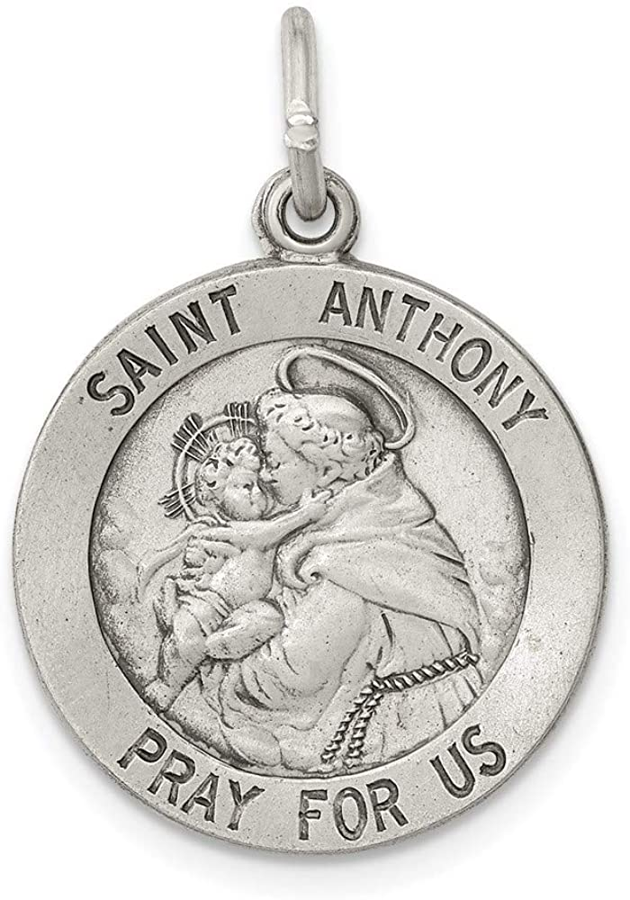 925 Sterling Silver Saint Anthony Medal Pendant Charm Necklace Religious Patron St Fine Jewelry For Women Gifts For Her