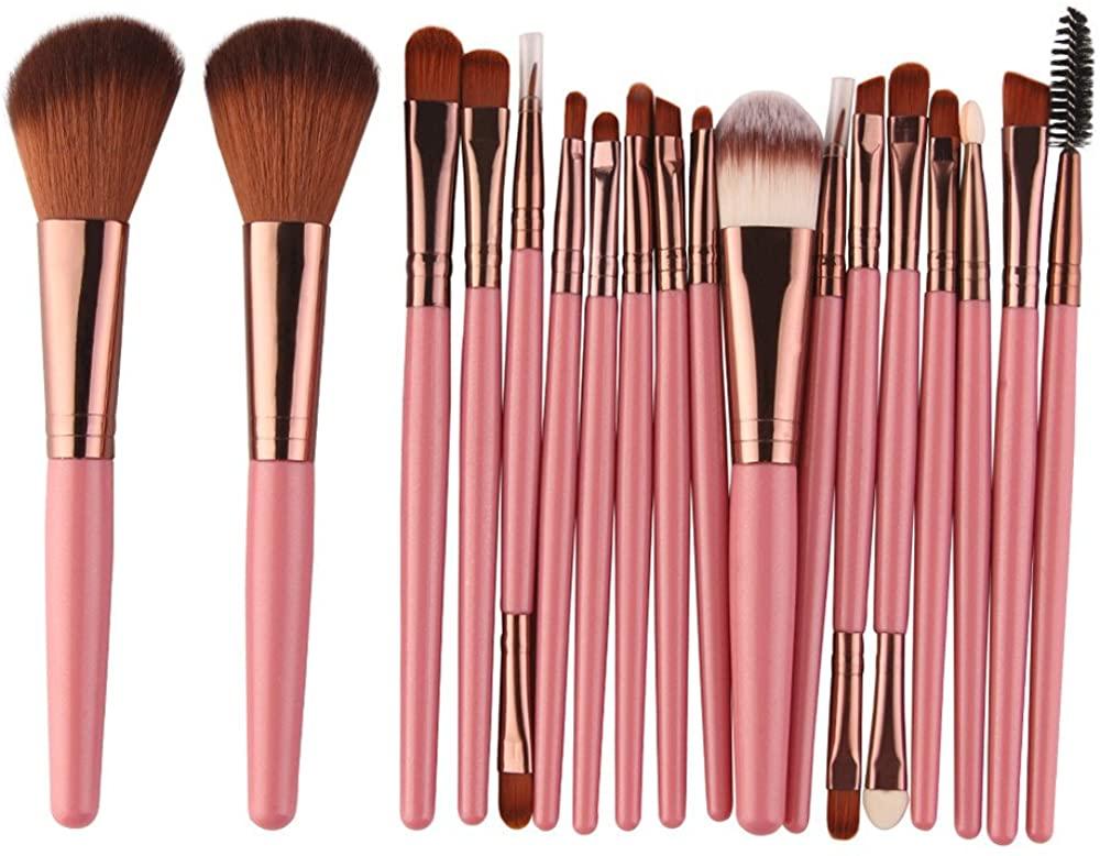 Makeup Brushes,Han Shi Proffessional 18 pcs Make Up Brush Set Toiletry Kit Wool Kits