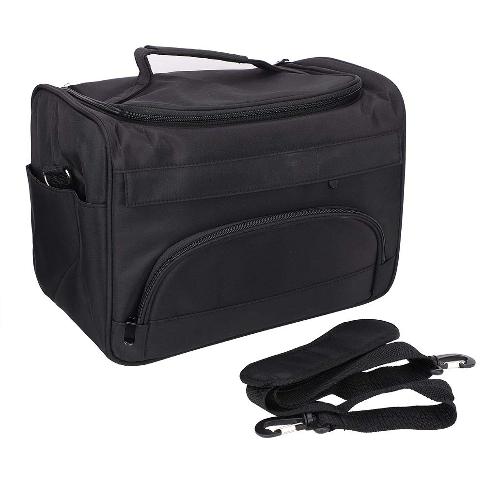 HelloCreate Hairdressing Tool Carrying Bag, Large Capacity Pro Hairdressing Hair Equipment Salon Tool Carrying Bag Travel Storage Case Bag