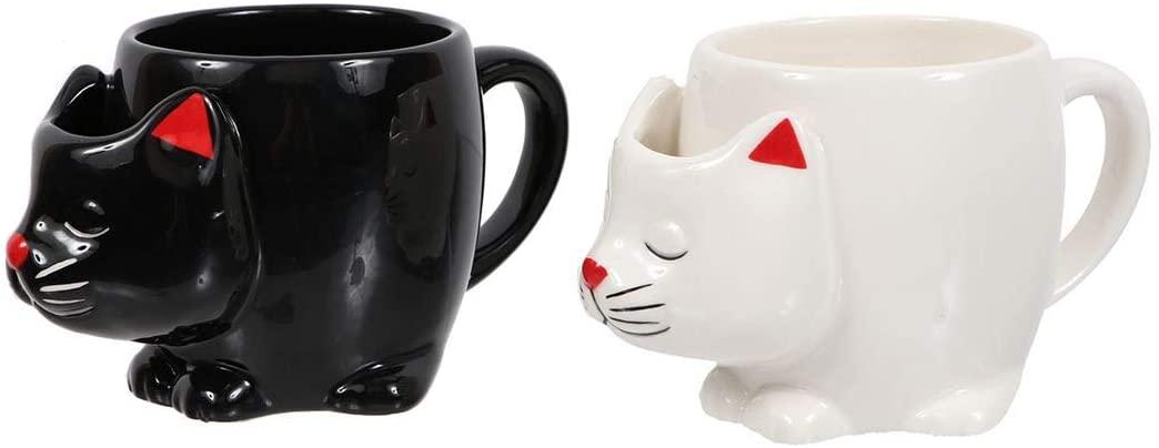 DEI Cat Mug with Teabag Holder (White)