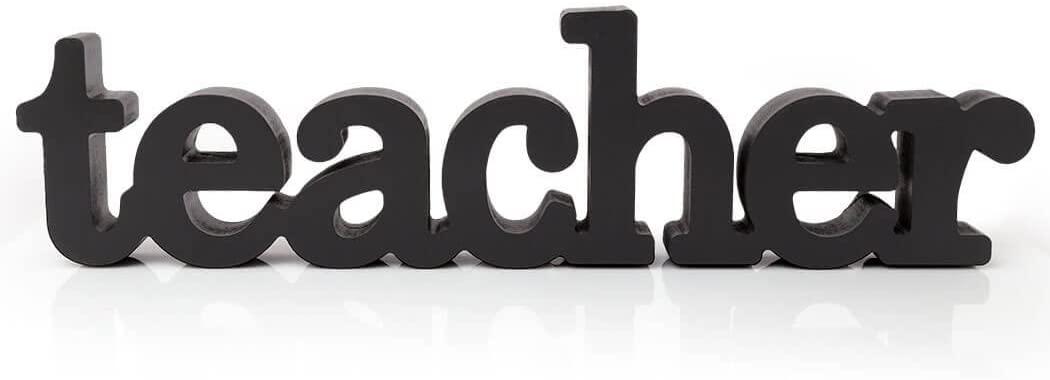 ChalkTalkSPORTS Teacher Wood Words | Teacher Sign & Decor