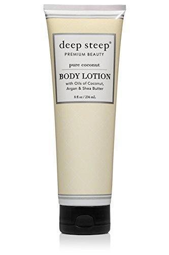 Deep Steep Body Lotion, Pure Coconut, 8 Ounce