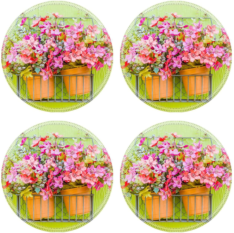 MSD Natural Round Drink Coaster set of 4 Image ID: 28188475 Flower vase decoration