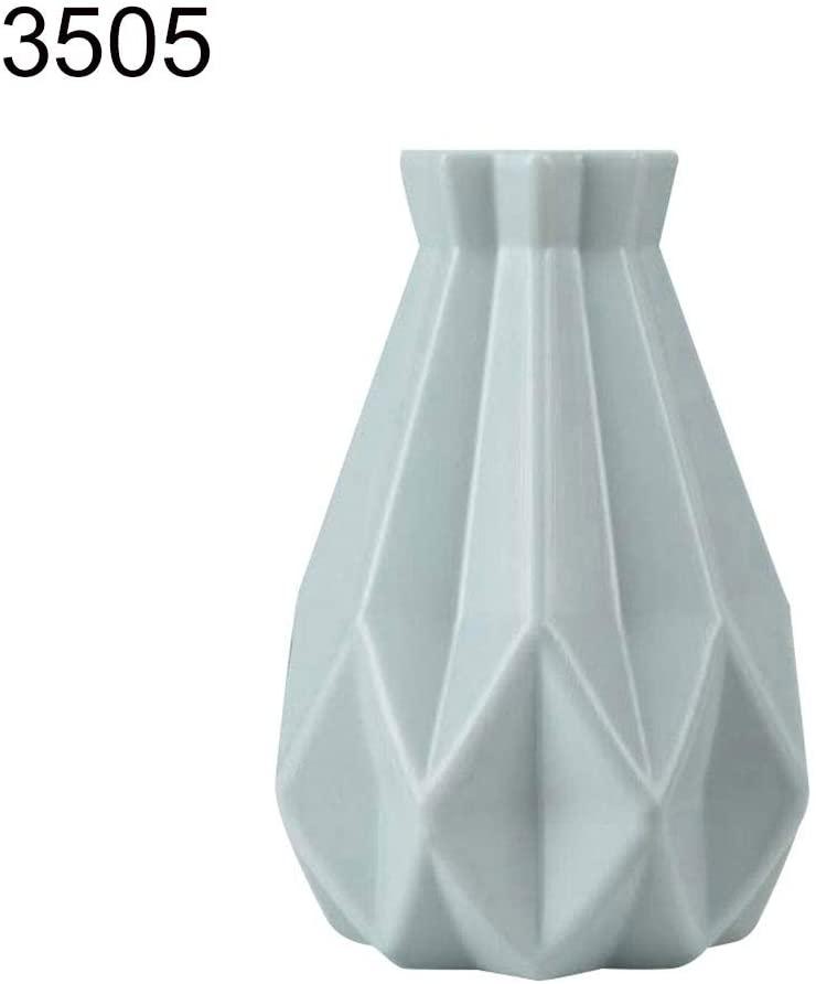 NarutoSak Plastic Shatter-Proof Flower Pot Vase, Modern Decorative Gardening Pot, Window Table Ornament Photography Home Decor, Suitable for Flower Plant Green 3505