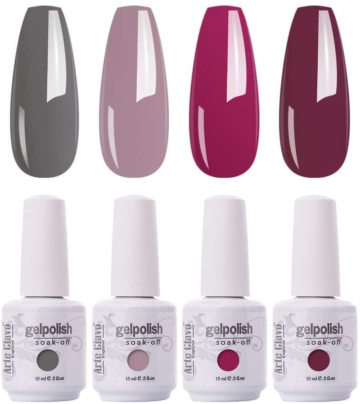Arte Clavo 15ml Varnish Soak Off UV Led Nail Gel Polish Nail Art Salon Set 20 of 4 Colors