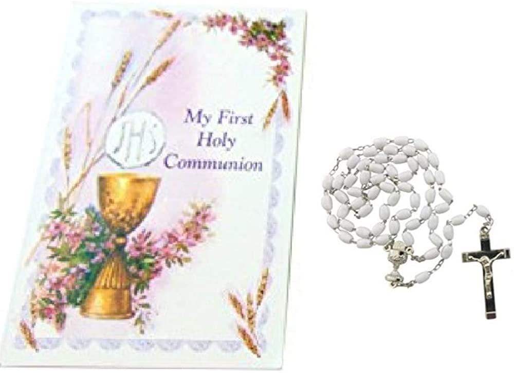 Westman Works First Holy Communion Girls Rosary Set with Booklet and Case