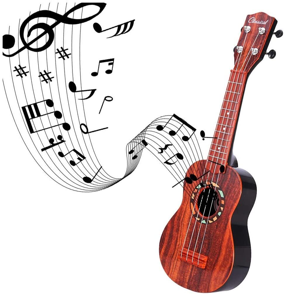 KimBird 21Inch Ukulele Toy, Handcrafted 4 Strings Mini Guitar Musical Instruments, Ukulele Pack Concert Ukulele Starter Kid Guitar Uke for Kids Student Beginner US Stock