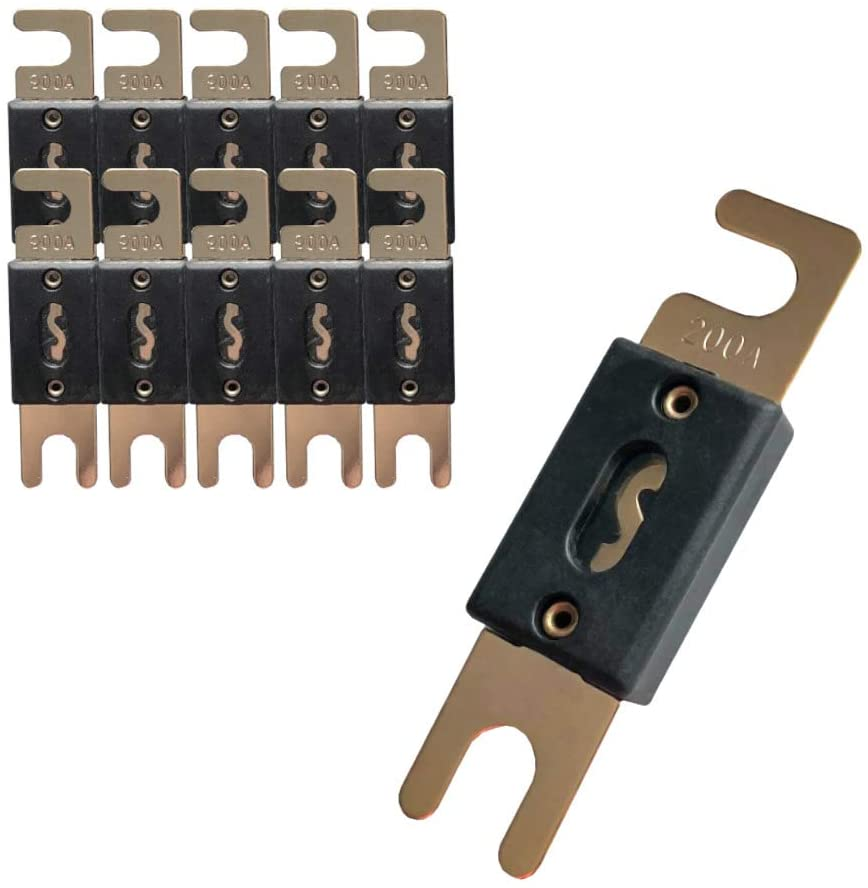 MGI SpeedWare ANL Fuses for Automotive Audio, Stereo Circuit Protection (10 x 200A)