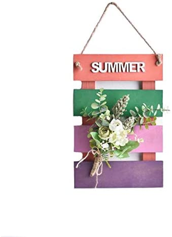 SweetHome Artificial flowers Wall Hanging Wood Board Used for Bedroom Living Room Tea Shop Restaurant Cafe Wall Decoration