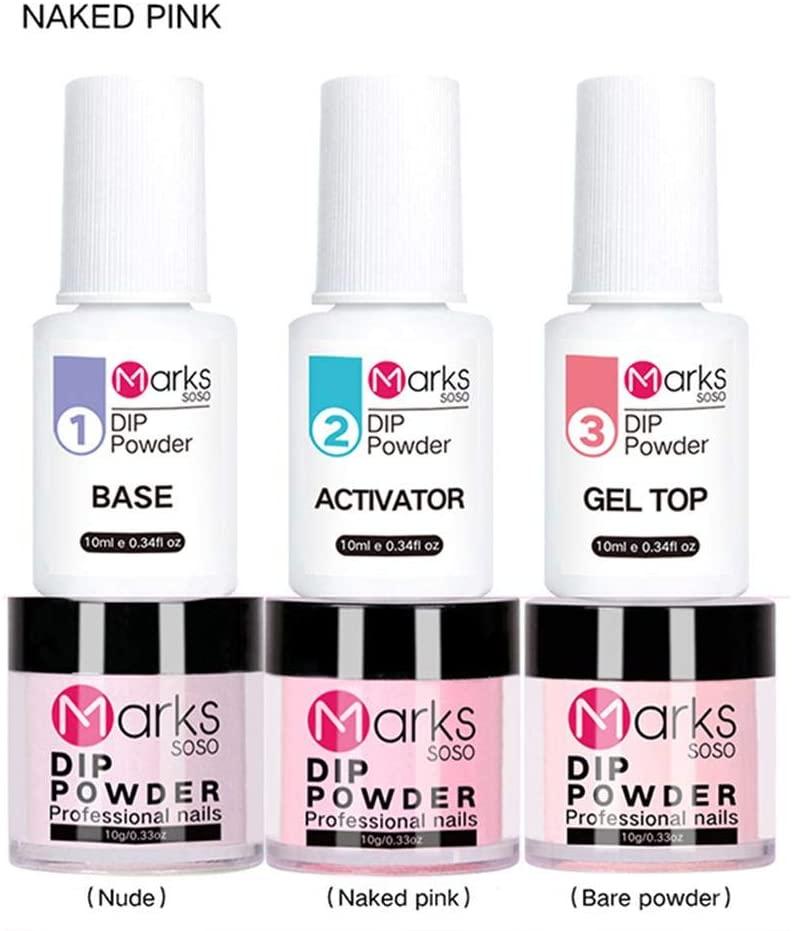 Nail Dipping Powder Nail Kit Dip Powder Starter Nail Kit Nails Dip Powder Set Dipping System for French Nail Manicure Nail Art Travel