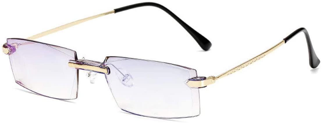 Myopia Blue Light Blocking Glasses for Mens Womens Computer Shortsighted Distance Glasses -4.00 Nearsighted Eyeglasses