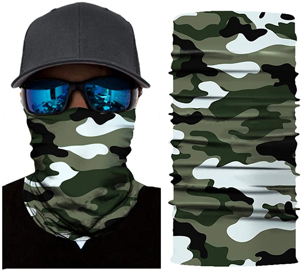 1PC Halloween Reusable Breathable Funny Printed Cycling Fashion Adults Washable Neck Motorcycle Cloth Face_Mask Scarf