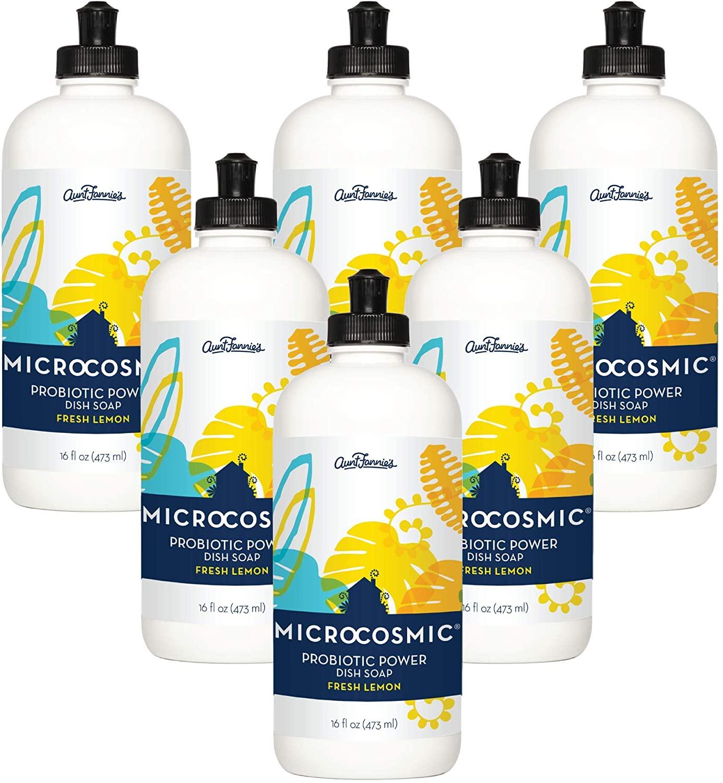 Aunt Fannie's Microcosmic® Probiotic Power Dish Soap (Fresh Lemon, 6pk)