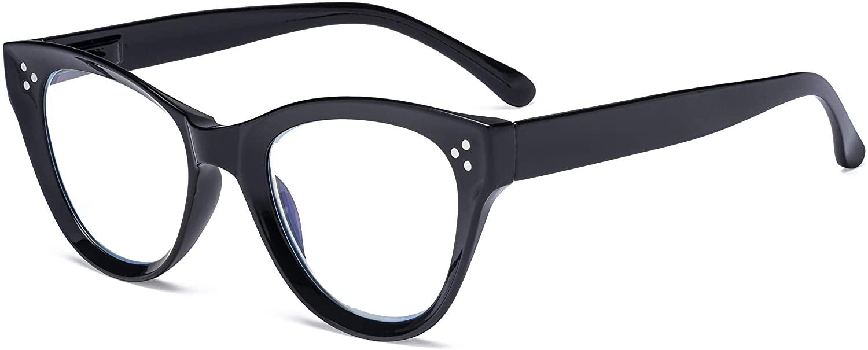 Eyekepper Large Cateye Design Reading Glasses Oversized Readers for Women Reading - Black +2.25