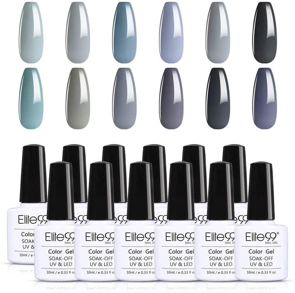 Elite99 Gel Nail Polish Set Soak off UV LED Nail Art Manicure Kit C027 + 50pcs Gel Remover Wraps
