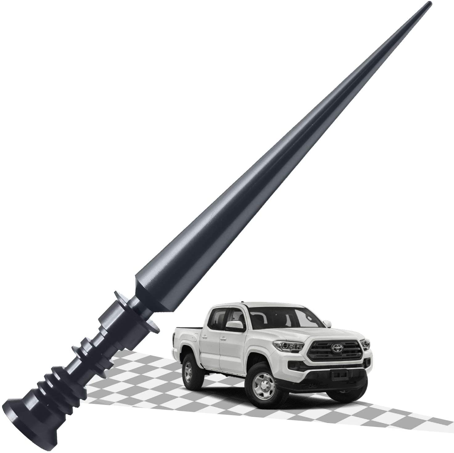 Elitezip Antenna Fit for Toyota Tundra 1999-2018 | Optimized AM/FM Reception with Tough Material | 6.75 Inches - CarbonBlack