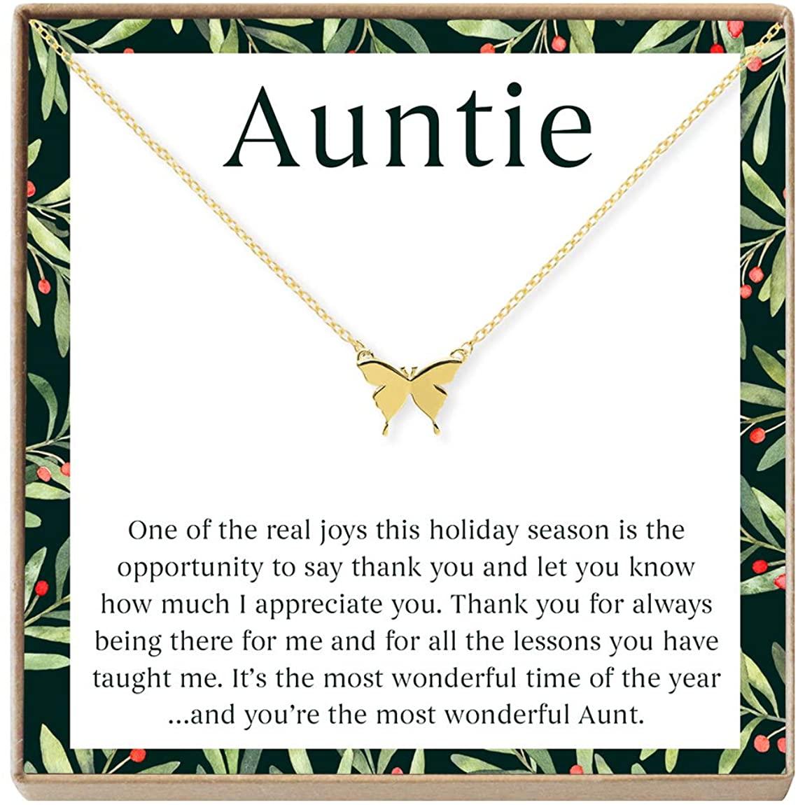 Aunt Christmas - Heartfelt Card & Jewelry Gift Set