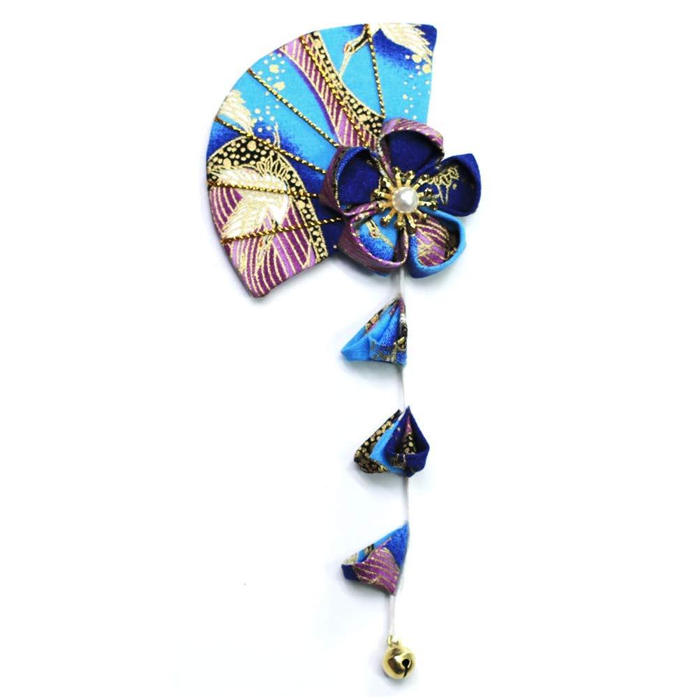 Japanese Hairpin DIY Hair Clip Tassels Tsumami zaiku for Yukata Bride Accessory Geisha Handwork Cute Fan Hairpin