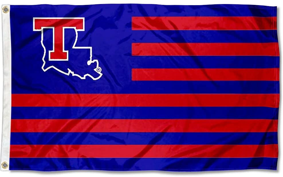 College Flags & Banners Co. Louisiana Tech Bulldogs Stars and Stripes Nation Flag