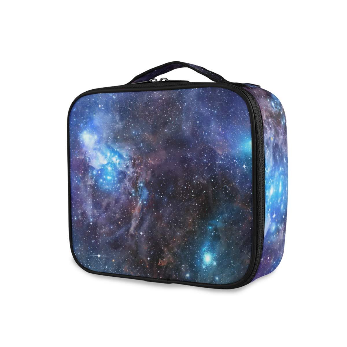 ALAZA Starry Nebula Makeup Organizers Storage Travel Bag Toiletry Bags