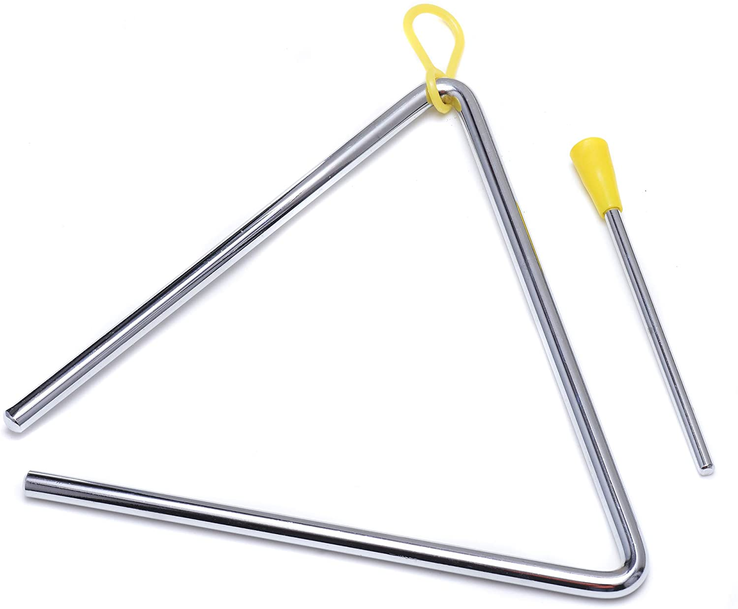 7 Inch Musical Steel Triangle Percussion Instrument With Striker