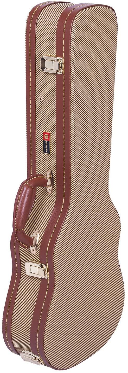 Crossrock Deluxe Wood Hard Case for Tenor Ukulele, Vinyl Tweed, Backpack Style (CRW700TUTW)