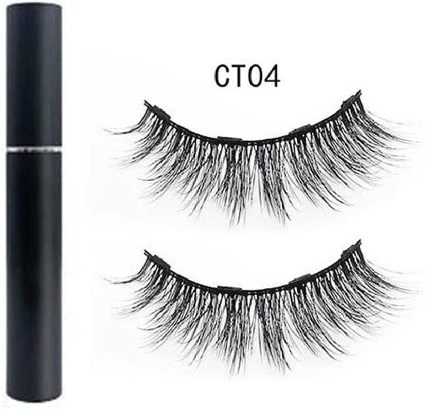 Singa-Z Magnetic Eyeliner Set,Natural Charming False Eyelashes Set