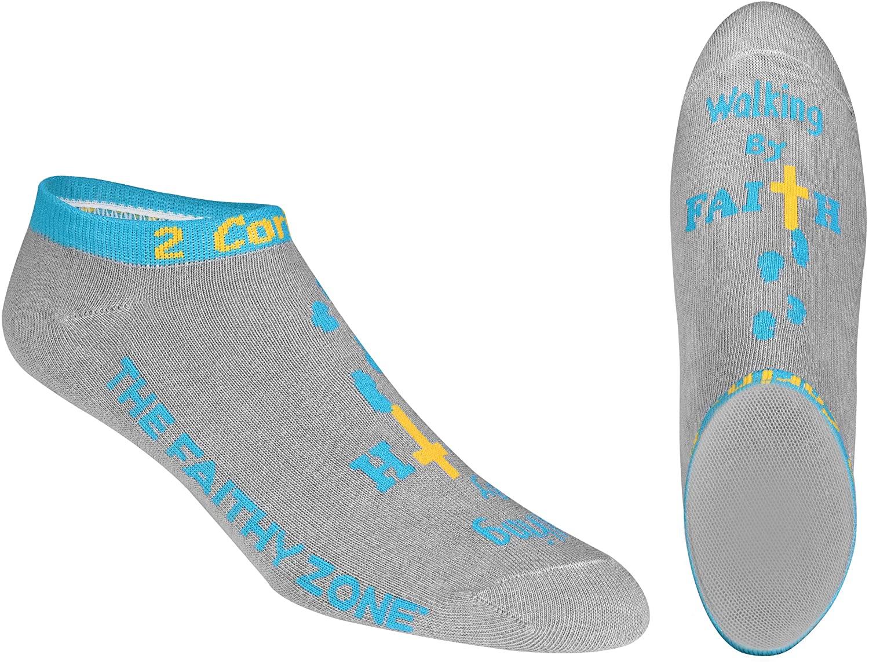 Walking By Faith Inspirational Ultra Low Cut Socks For Women & Men – Religious Gift Socks